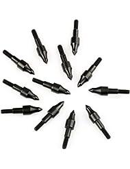 VERY100 12piezas x 3,6cm Puntas de Flecha de Caza 100 granos