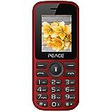 Generic Peace P4 Dual Sim 850 MAh Battery Mobile Phone (Red And Black)