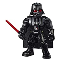 Star Wars Galactic Heroes Mega Mighties Darth Vader 10-Inch Action Figure with Lightsaber Accessory, Toys for Kids Ages 3 and up