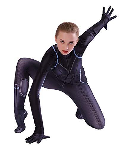 Für Schwarze Kostüm Erwachsene Witwe - Cosplay Kleidung Avengers 4 Final Battle Schwarze Witwe Anime Kostüm Erwachsene Kind Elastischer Dünner Overall Cosplay Kostüm Cosplay Kleidung,Kid-XL