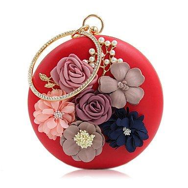 pwne L. In West Woman Fashion Luxus High-Grade Bead Blume Abend Tasche Red