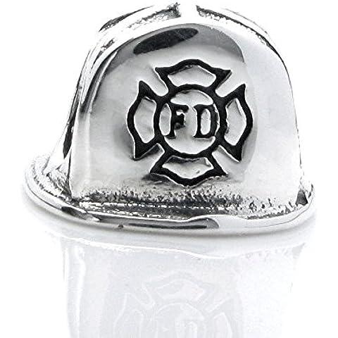Queenberry argento Sterling, Casco da pompiere in stile europeo, con Charm