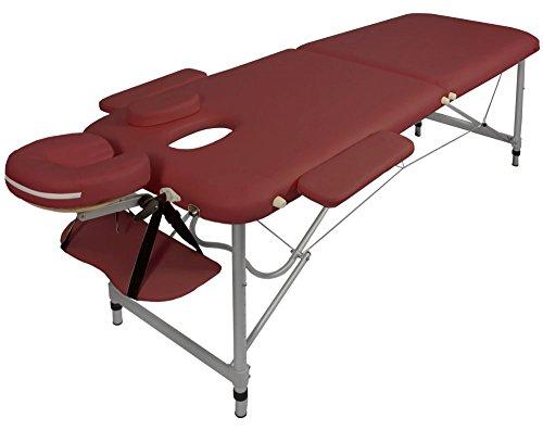 Massageliege/Massagebank ALU, nur 10kg, mit viel Zubehör, Topqualität, rot