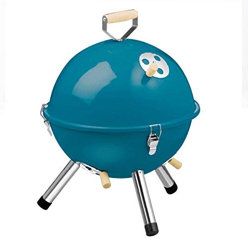 Nclon Kohle Picknickgrill Mini-wasserkocher grill,Outside Rauchfreier Portable Geräuscharmer Holzkohlegrill Barbecue Outdoor Picknick Camping 2-4 Volk-Hellblau blau 31*42cm -