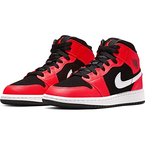new york 91142 31cc6 Nike Air Jordan 1 Mid (GS), Scarpe da Fitness Bambino, Nero
