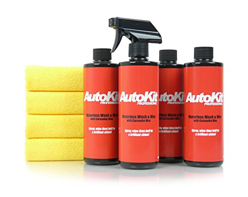 autokit-pro-waterless-car-wash-wax-2-litre-car-cleaning-kit-with-4-cloths