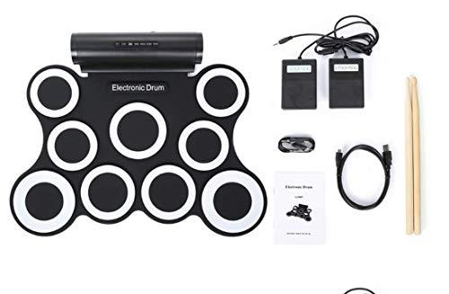 Batería Electrónica Drum Kit Silicona USB G3009 Plegable Drum Pad Instrumentos De Música Con...