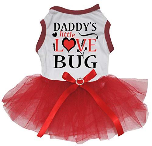 Petitebella Daddy's Little Love Bug Baumwoll-Tutu für Hunde -
