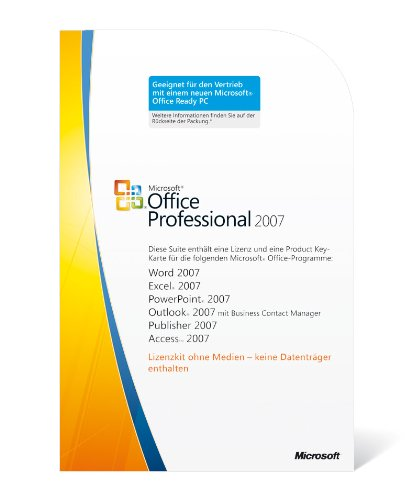 Microsoft Office Professional 2007 (1 Lizenz-Key) (Windows 7 Ultimate Key)