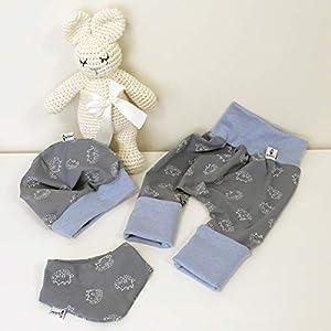 ANGEBOT Set – Hose, Mütze, Halstuch – Blau Igel (Hellblau melange) Baby Junge