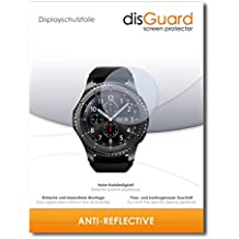 "2 x disGuard® Protector de pantalla Samsung Gear S3 frontier LTE Protectores de pantalla de película ""AntiReflex"" antideslumbrante"