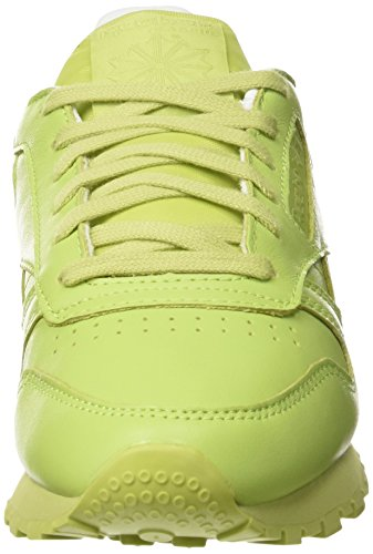 Reebok X Face Stockholm Classic Leather Spirit, Baskets Basses Femme Vert - Grün (Stunning Green/White/Rosette)