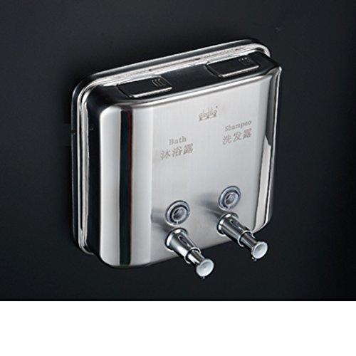 Edelstahl 304,Seifenspender,Dusche dispenser,Home Hotel Dusche gel shampooflasche Gel-duschkabine Shampoo box-D (Gel-glas-seifenspender)