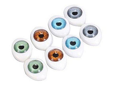 8Pair (16 STÜCKE) Oval Puppe Augen-hohl Acryl Puppe Bär Handwerk Augen Augäpfel für DIY Nähen Handwerk Puppe Bär Puppe Tier Stofftiere (4 Farben) (23mm x 16mm/0.9'' x 0.6'')