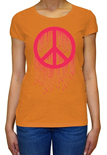 Peace Painted Logo Pink Graphic Design Women's T-shirt XX-Large (T-shirt Womens Painted Logo)
