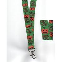 1x Dolcetto o scherzetto zucche per Halloween con cordino da collo in sicurezza Free UK P & P - Hairy Spider Decoration