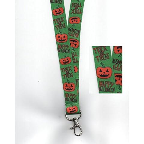 5x Dolcetto o scherzetto zucche per Halloween con cordino da collo in sicurezza Free UK P & P - Hairy Spider Decoration