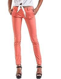 Meltin'Pot - Pantalón  MABEL G2249-OG001 para mujer, estilo chino, ajuste ceñido, talle media