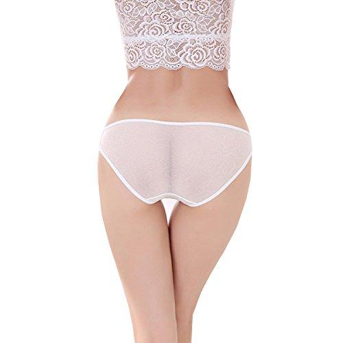 Dissa 2er Pack Z2001 Damen Panties Strings Tanga Weiß