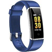AUSUN Pulsera de Actividad Inteligente, FT901 Pulsera Actividad Reloj Inteligente Impermeable Mujer Hombre con Monitor de Sueño, Podómetros, Cronómetros,Notificación de Mensaje, Azul