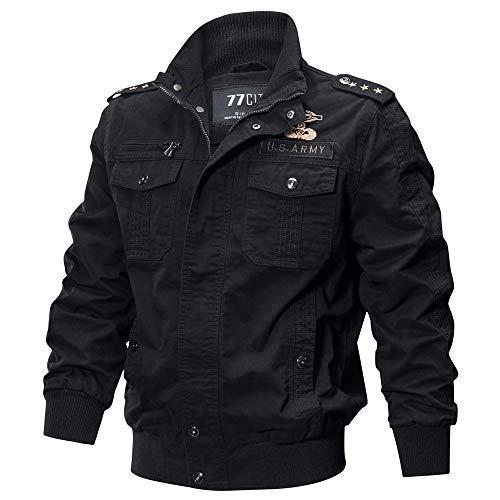 TIFIY Wintermantel Jacke Herbst Militär Parka Sweatshirt Sweat Outwear Draussen Strickjacke Sport Umhang Solide Tunika Pullover M-6XL (T_b,5XL