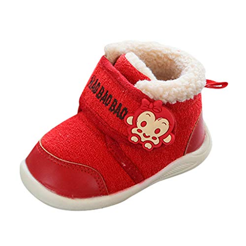 Baby Warm Boots Infant Toddler Girls Boys Cute Cartoon Monkey Winter Shoes Unisex First Pram H3 Winter Baby Shoes Christmas First Birthday Gift Cute Sweet Shoes UK Sale