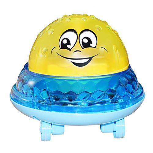 Ladepe Kinder Elektrische Induktion Sprinkler Spielzeug Bad Spielzeug Automatische Induktion Spray Wasser Spielzeug Mit Musik Licht Spielen Bad Spielzeug (Blau) - Tagesdecke Ausgestattet