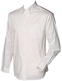 Henbury Mens Long Sleeved Oxford shirt