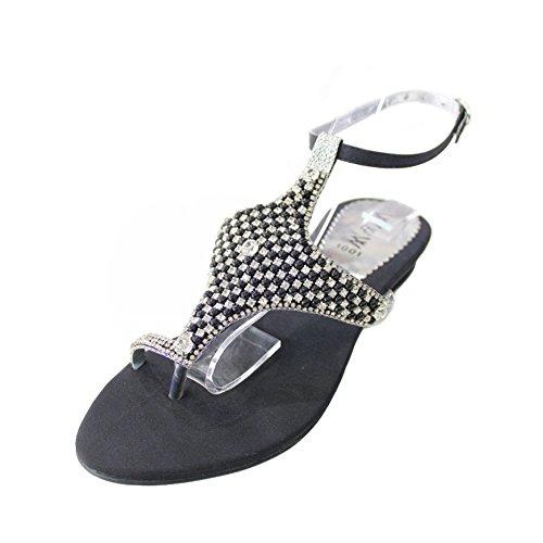Wear & Walk UK , Damen Sandalen 36-42 Schwarz