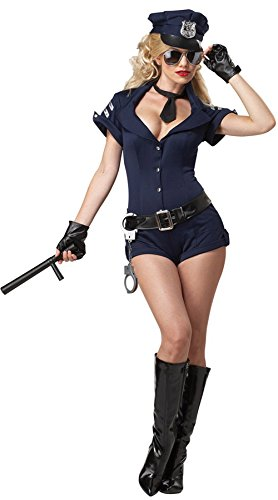 Sex-women Halloween Polizistin Uniform Temptation Cosplay KostüMe One Piece Kurzarm Boxer Overall (Boxer Halloween Männer Kostüm)