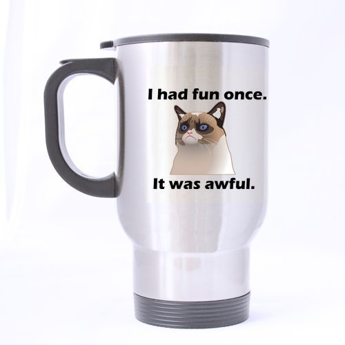 XOX-T Awesome Travel Coffee or Tea Mug with Shhh,there is beer in here funny saying two sides designed styleCustom Stainless Steel 14-Ounce Travel Mug (sliver) color-3