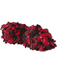Augusta Sportswear Big niña de espíritu Pom - 6003, One Size, Negro/Rojo