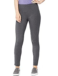 Hanes By Women's Stretch Jersey Leggings_Charcoal Heather_XL