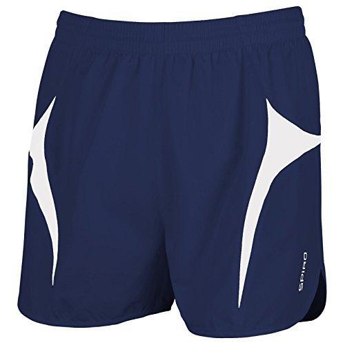 Herren SPIRO Sport Micro Lite Laufshorts, Blau - Navy/ White, M (Lite-sport-kurz)