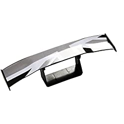 Car Rear Spoiler Roof Spoiler - SEAMETAL Universal Car Wing Trunk Spoiler for Car Decoration Heavy-duty Sporty Look Stars and Stripes with 3M Adhesive 1s Installation Easy DIY (Grey)