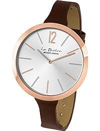 Jacques Lemans Damen-Armbanduhr La Passion Analog Quarz Leder LP-115C