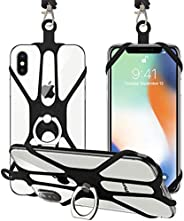 Universal Phone Lanyard Holder, 2 Pack Silicone Retractable Cell Phone Lanyard with Detachable Neckstrap and P