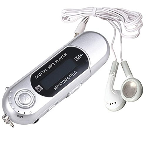 Player 8GB USB 2.0 Flash Drive LCD-MP3-Player w / FM Radio Diktiergerät Silber ()