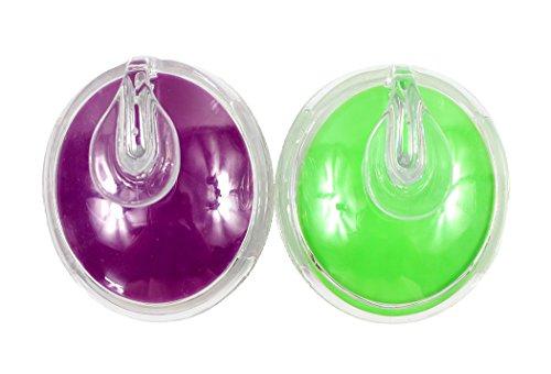 Ranvi masajeador del cuero cabelludo del pelo contra la celulitis cepillo champú cuero cabelludo ducha masaje de cabello masajeador cepillo peine, 2 piezas, púrpura + verde