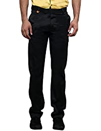 Jugend Navy Blue Stretchable Slim Fit Formal Trousers For Men
