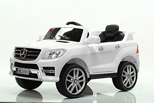 TOYSCAR electronic way to drive Auto Macchina Elettrica 12V Doppio Motore Licenza Mercedes ML 350 SUV ML350 per Bambini LED MP3 con Telecomando