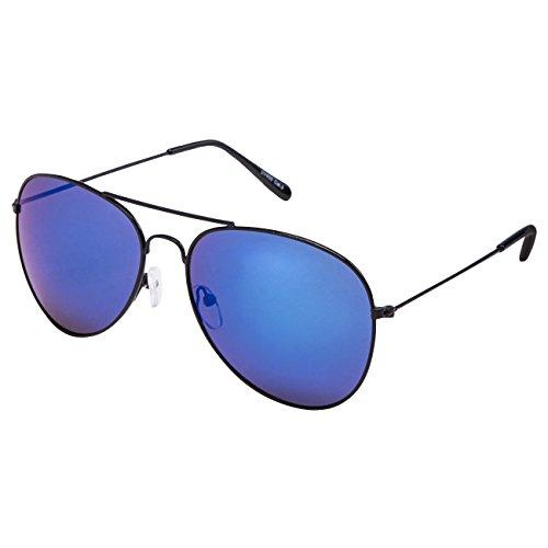 Ciffre EL-Sunprotect® Pilotenbrille Fliegerbrille Sonnenbrille Brille Top Design Schwarz Blaue Glässer
