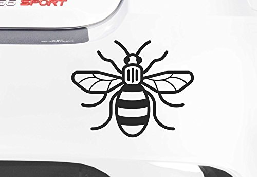 Price comparison product image Manchester Bee - Vinyl Decal - #WeStandTogether - Donations from each sale go to the British Red Cross (Black)