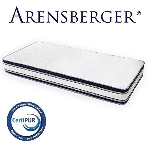 Arensberger Relaxx 9 Zonen Wellness Matratze mit 3D-Memory Foam, 140 cm x 200cm, Höhe 25cm, Raumgewicht 50 kg/m³, drei Schichten: Kaltschaum + Visco Smart Schaum + Gel Schaum - 2