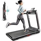 Sportstech FX300 Ultra Slim Laufband Easy-Folding+ kein Aufbau+ Riesige Lauffläche 510x1220mm, 16 km/h+ App, USB Ladeport, Tablet-Holder, Heimtrainer klappbar, Pulsgurt kompatibel für Cardio Training