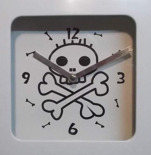 Blanco Cráneo Pared Mesa De Bones Ged Péndulo Decorativo Calavera Reloj 728728 Y6Iybg7fv