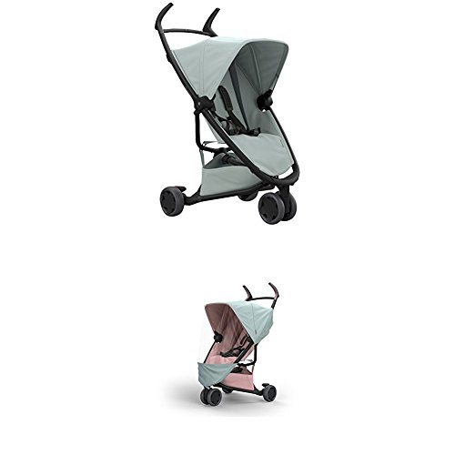 Quinny Zapp Xpress Stroller Pushchair, Grey with Raincover, Frost