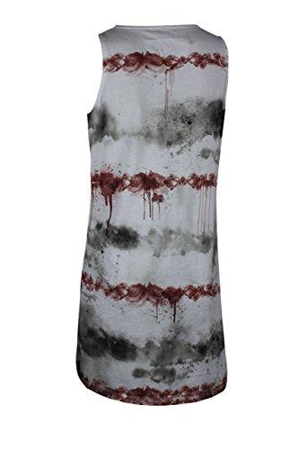 trueprodigy Casual Femme Debardeur imprimé, vetements cool marque col rond (manche courte & slim fit classic), shirt mode Couleur: rouge 1072520-1550 red