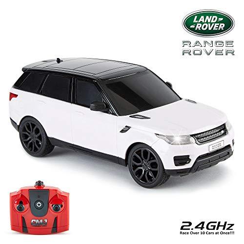n Supercars mit Fernbedienung, von CMJ RC Cars- Range Rover Sport Weiss ()