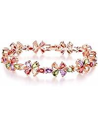 Jewels Galaxy Exlcusive Designer Copper Charm Bracelet for Women (Multi-Colour)(BNG-3072)